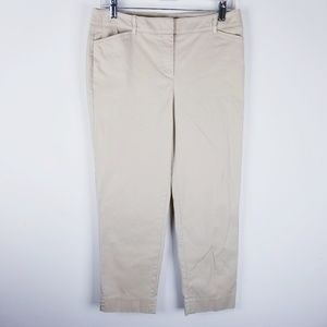 Talbots perfect crop cropped khaki pants size 4